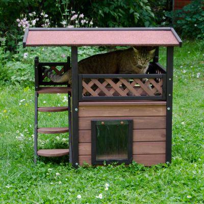 Maisonnette pour chat zooplus for Exterieur kat