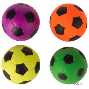 Mačja igrača gumijaste nogometne žoge - 4 kosi