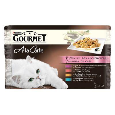 Míchané balení na zkoušku Gourmet a La Carte 4 x 85 g