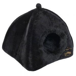 Royal pet black niche pour chat et petit chien zooplus for Niche pour chat interieur