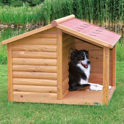 ... > Niche - Toit pointu > Niche Trixie Natura avec terrasse pour chien