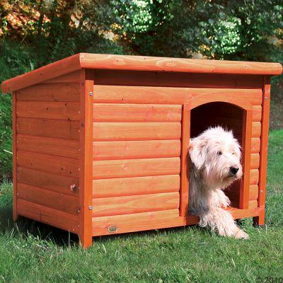 Trixie natura toit plat niche pour chien zooplus for Casetas para patios