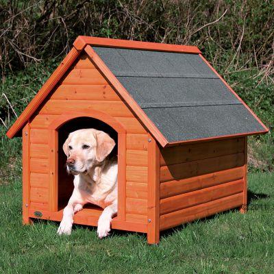 Trixie natura toit pointu niche pour chien zooplus - Plan fabrication niche chien ...