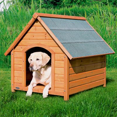 Trixie natura toit pointu niche pour chien zooplus for Dog house for labrador retriever