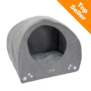 Wigwam en feutre niche pour chien zooplus for Niche pour chien interieur