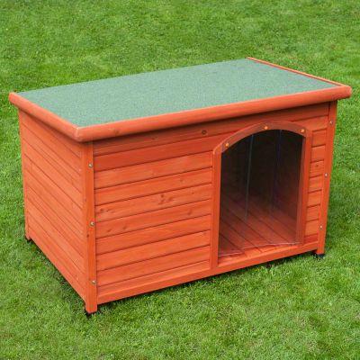 woody toit plat et porte en plastique niche pour chien zooplus. Black Bedroom Furniture Sets. Home Design Ideas