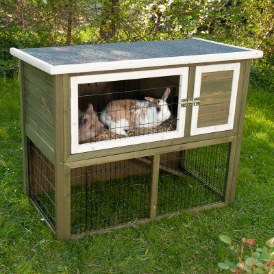 outback kaninchenstall kompakt green mit freigehege. Black Bedroom Furniture Sets. Home Design Ideas