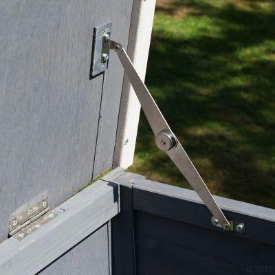 Outback Kaninchenstall Kompakt Grey mit Freigehege