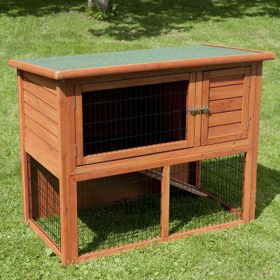 outback kaninchenstall kompakt mit freigehege g nstig bei. Black Bedroom Furniture Sets. Home Design Ideas