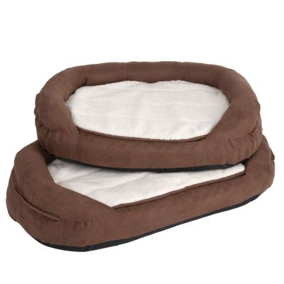 Oval Memory Foam Dog Bed Brown Free P Amp P 163 29