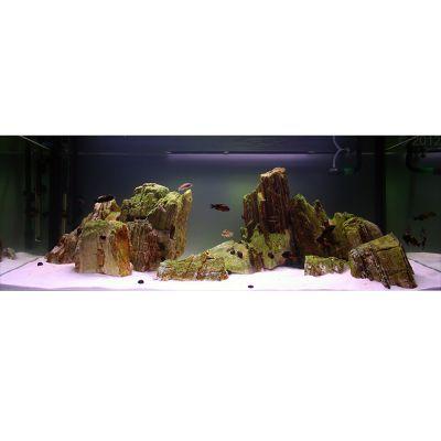 Pale pagoda rock canyon style aquarium decoration for Aquarium decoration rocks