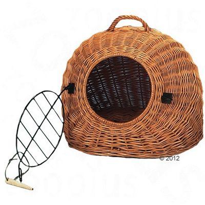 panier de transport en osier naturel cage de transport pour chat et petit chien zooplus. Black Bedroom Furniture Sets. Home Design Ideas