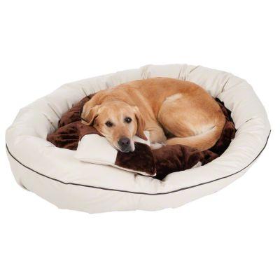 panier et coussin en cuir synth tique pour chien prix avantageux chez zooplus panier en. Black Bedroom Furniture Sets. Home Design Ideas