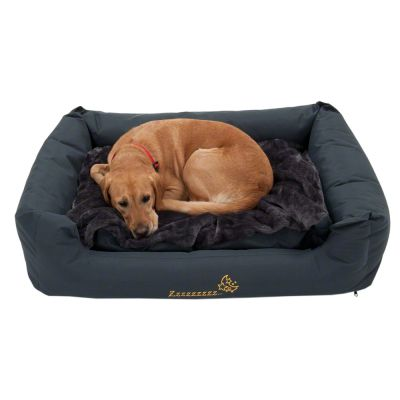 panier pour chien sleepy time avec coussin gris. Black Bedroom Furniture Sets. Home Design Ideas