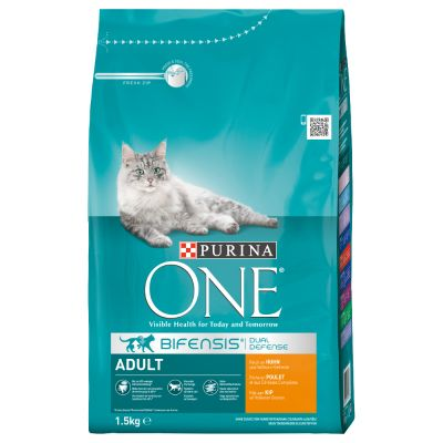 purina one adult chicken whole grains dry cat food. Black Bedroom Furniture Sets. Home Design Ideas
