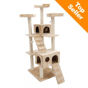 Rapunzel Cat Tree on cardboard cat scratching pads