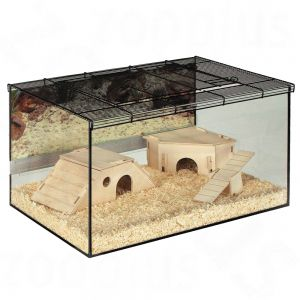 Hamster cages great selection at zooplus small pet for Fish tank for hamster