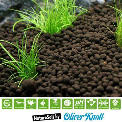 Substrat pour aquarium naturesoil noir for Substrat pour aquarium