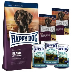 testpaket happy dog irland trocken nassfutter und snack g nstig bei zooplus. Black Bedroom Furniture Sets. Home Design Ideas