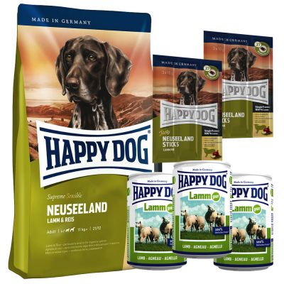 testpaket happy dog neuseeland trocken nassfutter snack. Black Bedroom Furniture Sets. Home Design Ideas