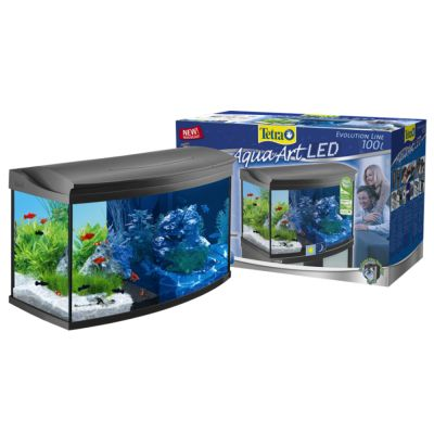 juwel aquarium goedkoop bij zooplus tetra aquaart evolution line led aquarium compleet set 100 l. Black Bedroom Furniture Sets. Home Design Ideas