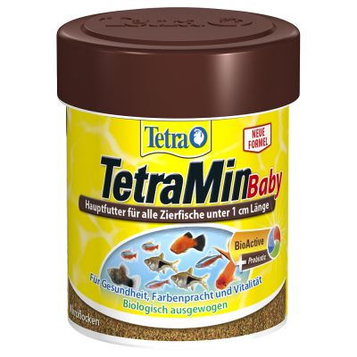 Tetramin baby fish food free p p on orders 29 at zooplus for Purina tropical fish food