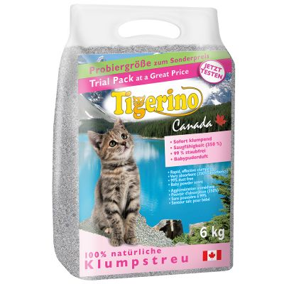 Tigerino Canada Cat Litter Trial Pack Baby Powder Top