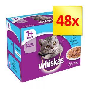 Whiskas 1 Pouches Multibuy 48 X 100g At Bitiba Co Uk