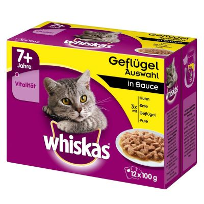 whiskas 7 senior cat pouches in gravy free p amp p on