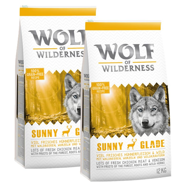 Wolf of wilderness economy pack 2 x 12kg exclusive to for Cuisine 800 wow