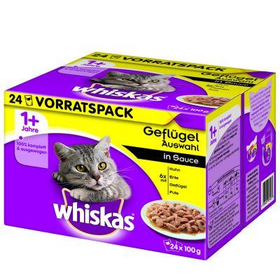 48 x 100 g Whiskas 1+ kapsičky 36 + 12 ZDARMA