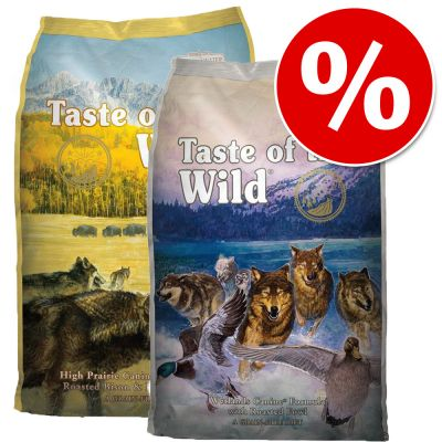 2 x 13 kg: Taste of the Wild - Combipakket