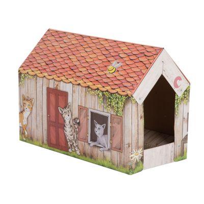 zoolove casita Home con bloque de cartón para gatos