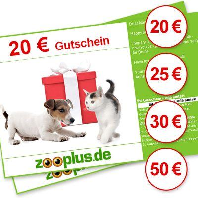 zooplus Geschenkgutschein