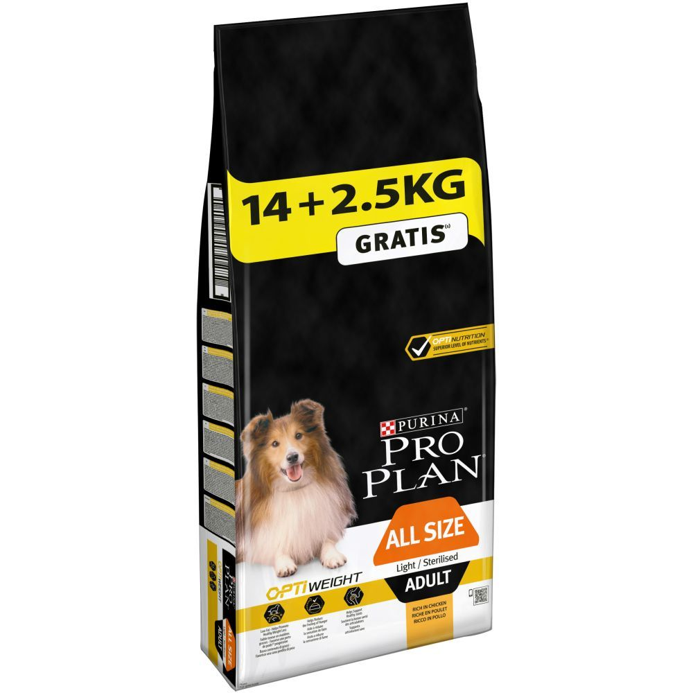 Large Bags Purina Pro Plan Dog Food + 2kg/2.5kg Extra Free