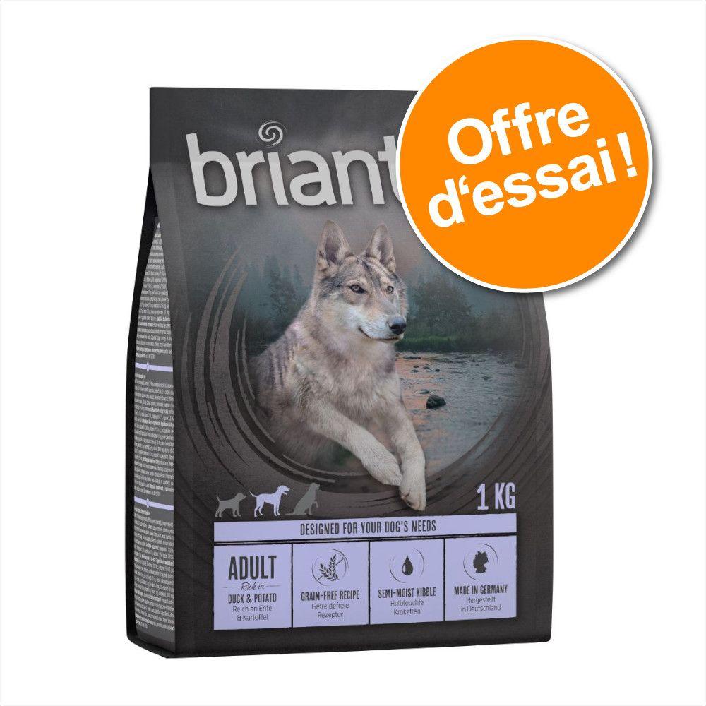 Offre d'essai Briantos Adult SANS CÉRÉALES lot mixte Canard et Saumon - Croquettes pour chien