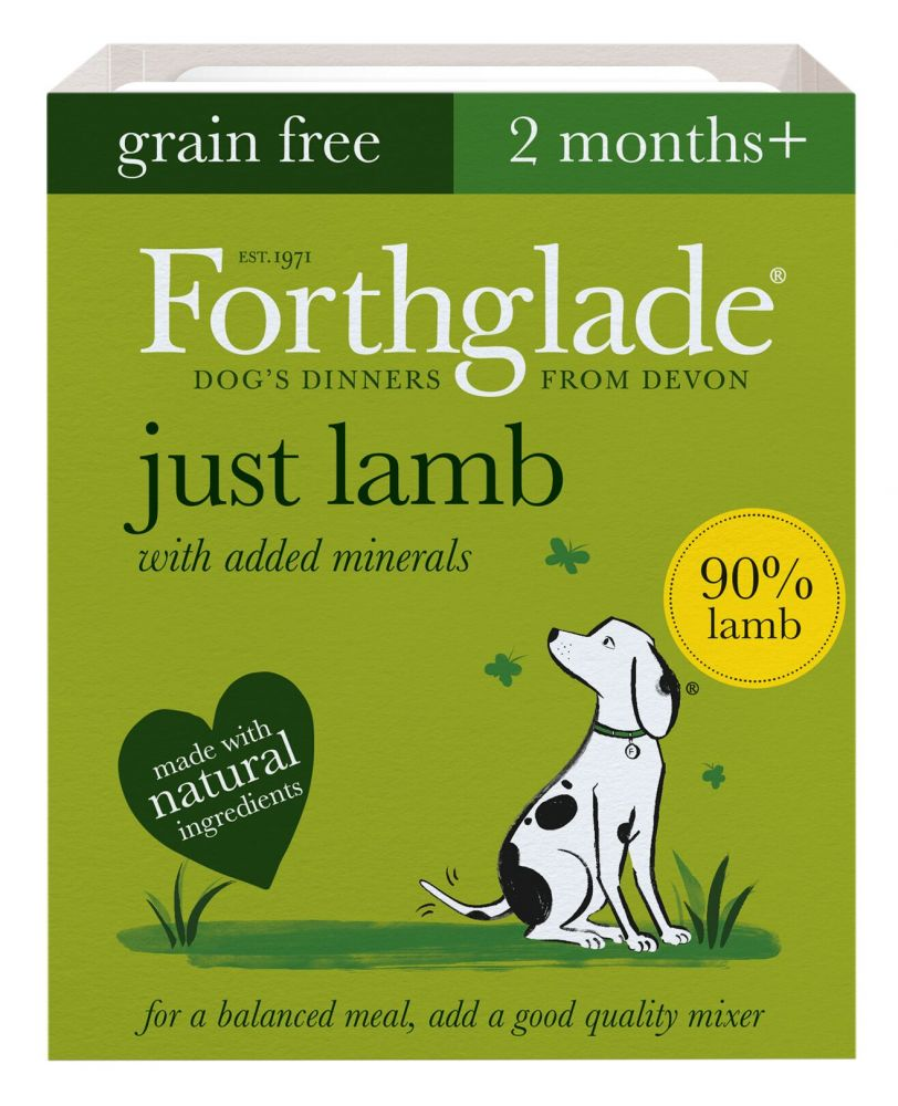 Forthglade Just Grain-Free Natural Wet Dog Food - Just Lamb - 18 x 395g