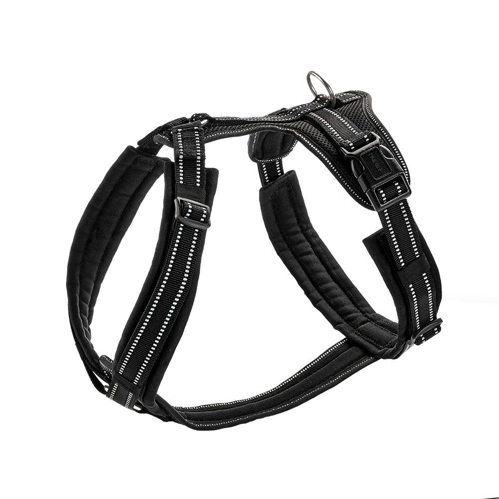 Arnés HUNTER Maldon negro para perros - S-M: 47-69 cm de pecho, 20 cm de ancho
