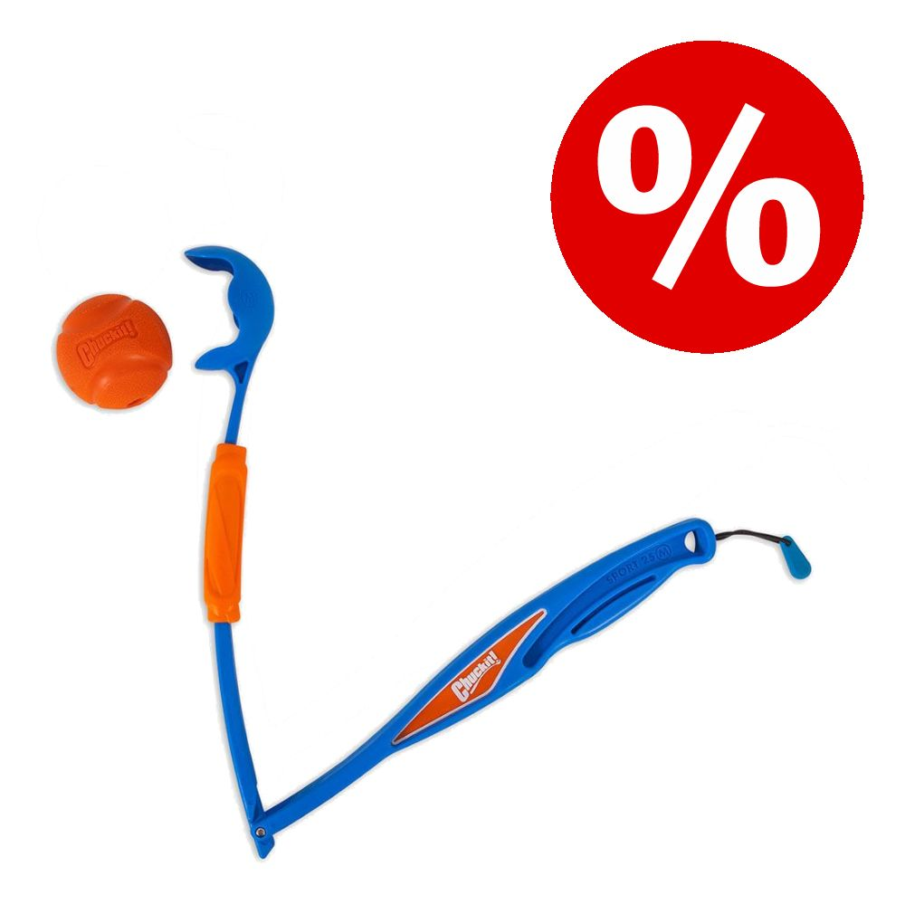 Chuckit! Fetch & Fold hundleksak till sparpris! - Launcher 25M: L 70 cm (hopfällbar)