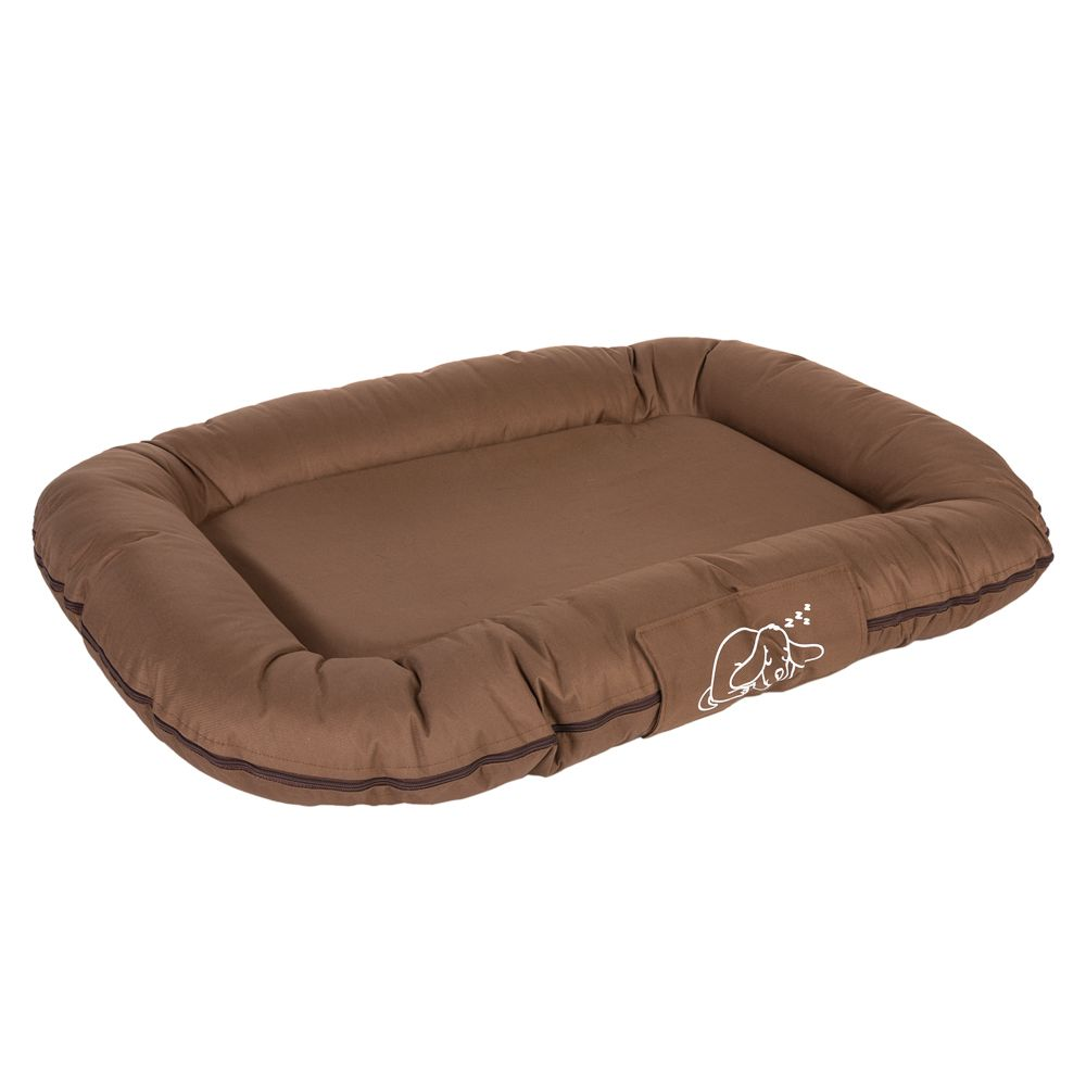 Strong and Soft Dog Cushion, approx. 100 x 70 x 13 cm (L x W x H), brown