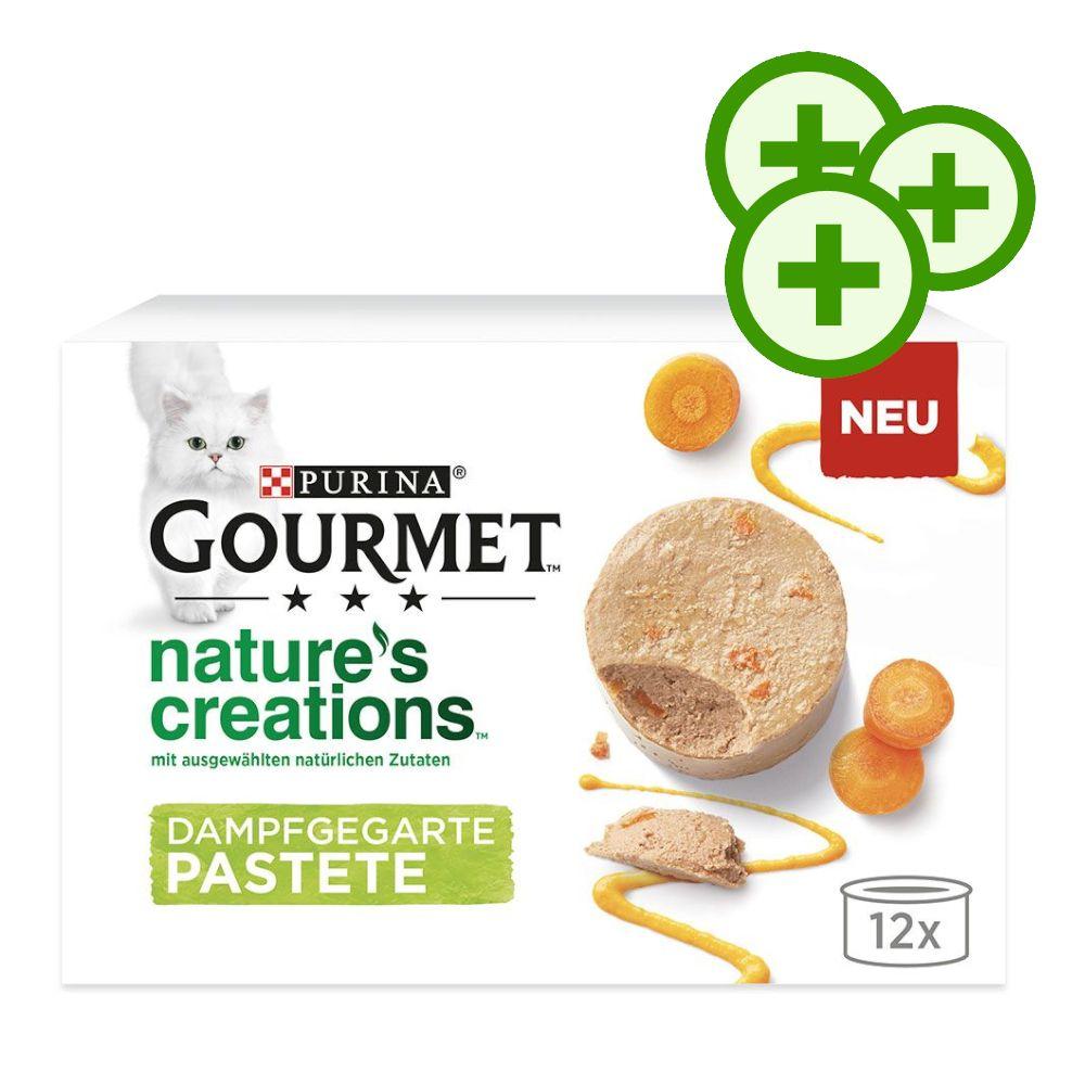 12x85g Nature's Creations Pastete: Huhn & Karotten Gourmet Katzenfutter Nass - 3-fach zooPunkte