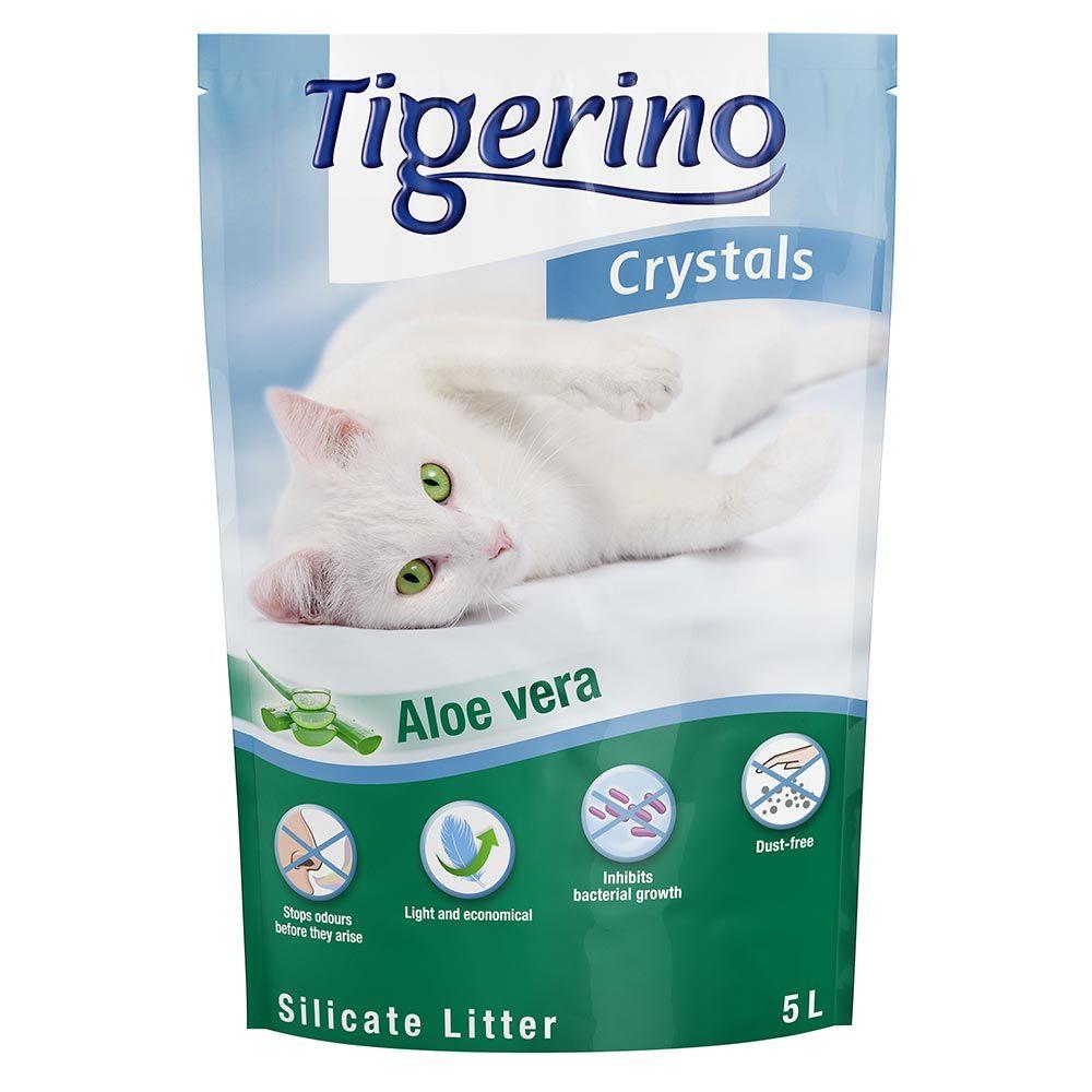 Tigerino Crystals Aloe Vera Katzenstreu - 6 x 5 l - Sparangebot!