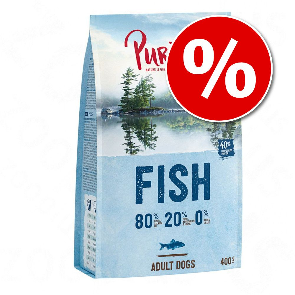 Offre d'essai croquettes Purizon sans céréales, 400 g pour chien à prix mini ! - Adult poisson