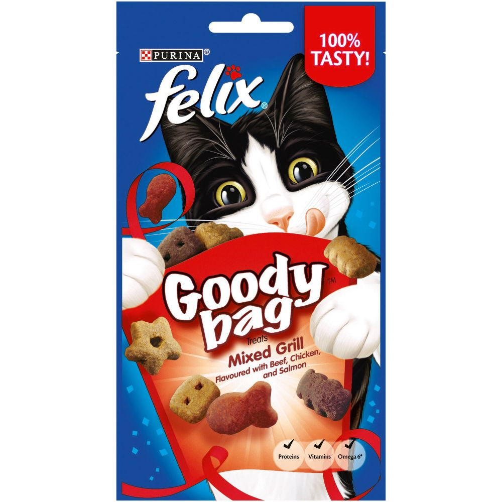 Click to view product details and reviews for Felix Goody Bag Treats 60g Original.