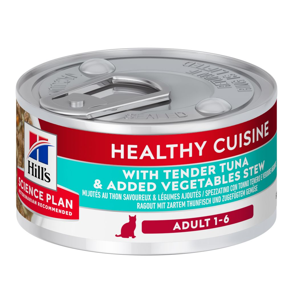 Hill's Science Plan Adult Healthy Cuisine Ragout Tuna & Vegetables - 48 x 79 g