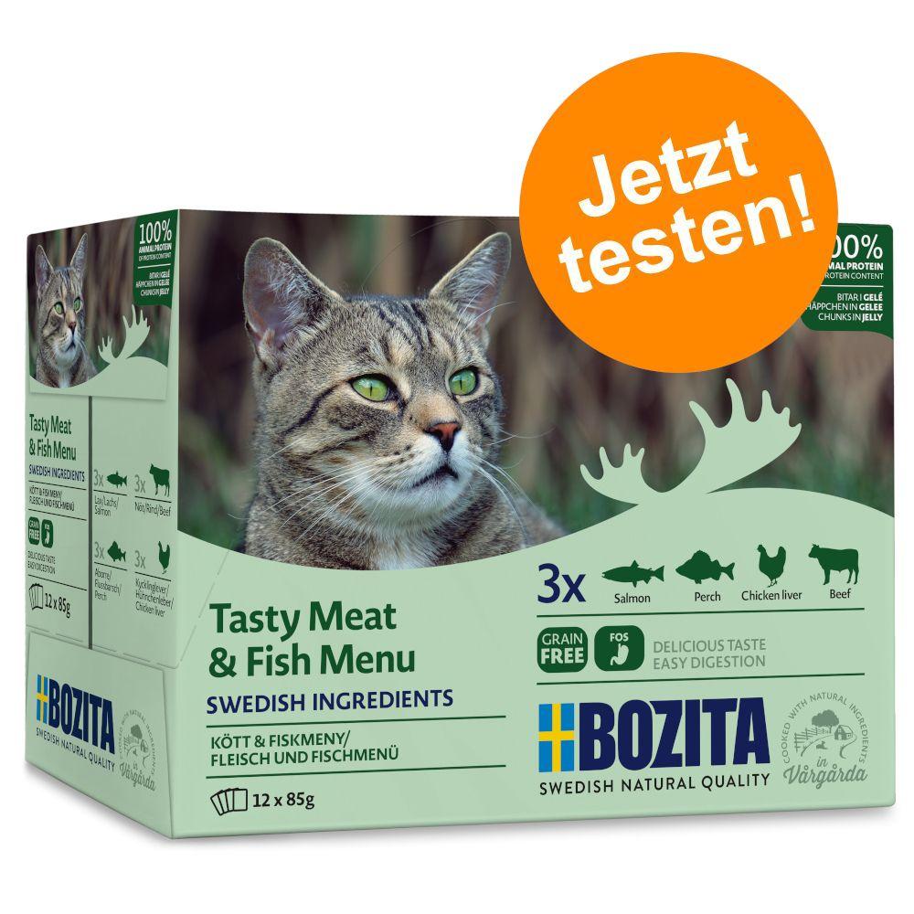 Bozita Häppchen in Gelee im Mixpaket 12 x 85 g - Mixpack Fleisch Menü
