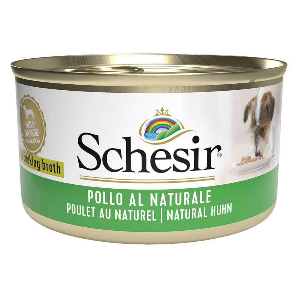 6x85g Tun med ærter Schesir hundefoder