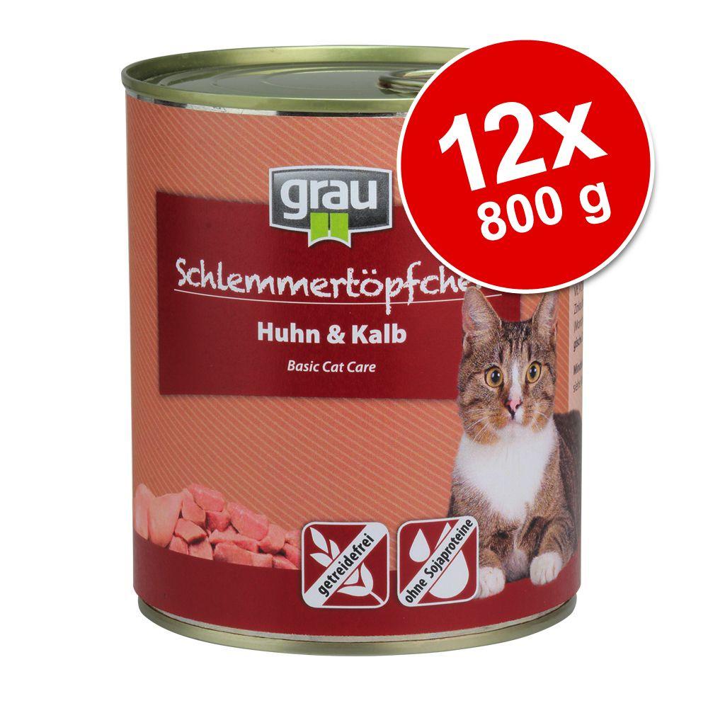 Grau Gourmet spannmålsfritt 12 x 800 g - Kalkon & lamm