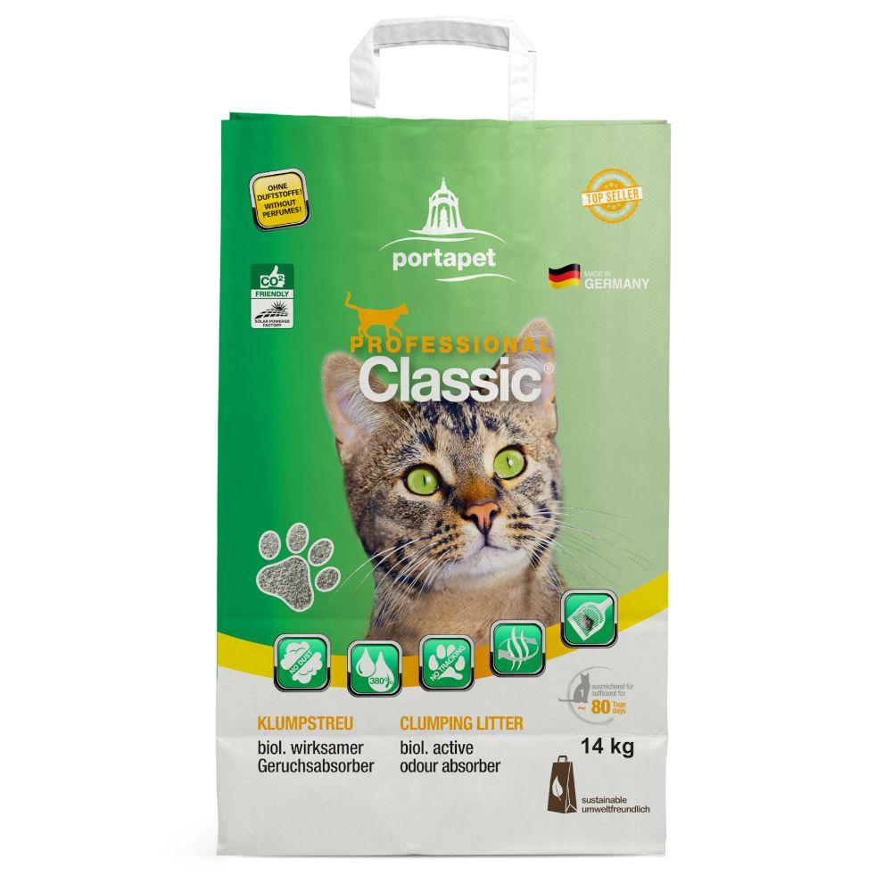 Professional Classic kattsand med luktabsorberare Ekonomipack: 2 x 14 kg