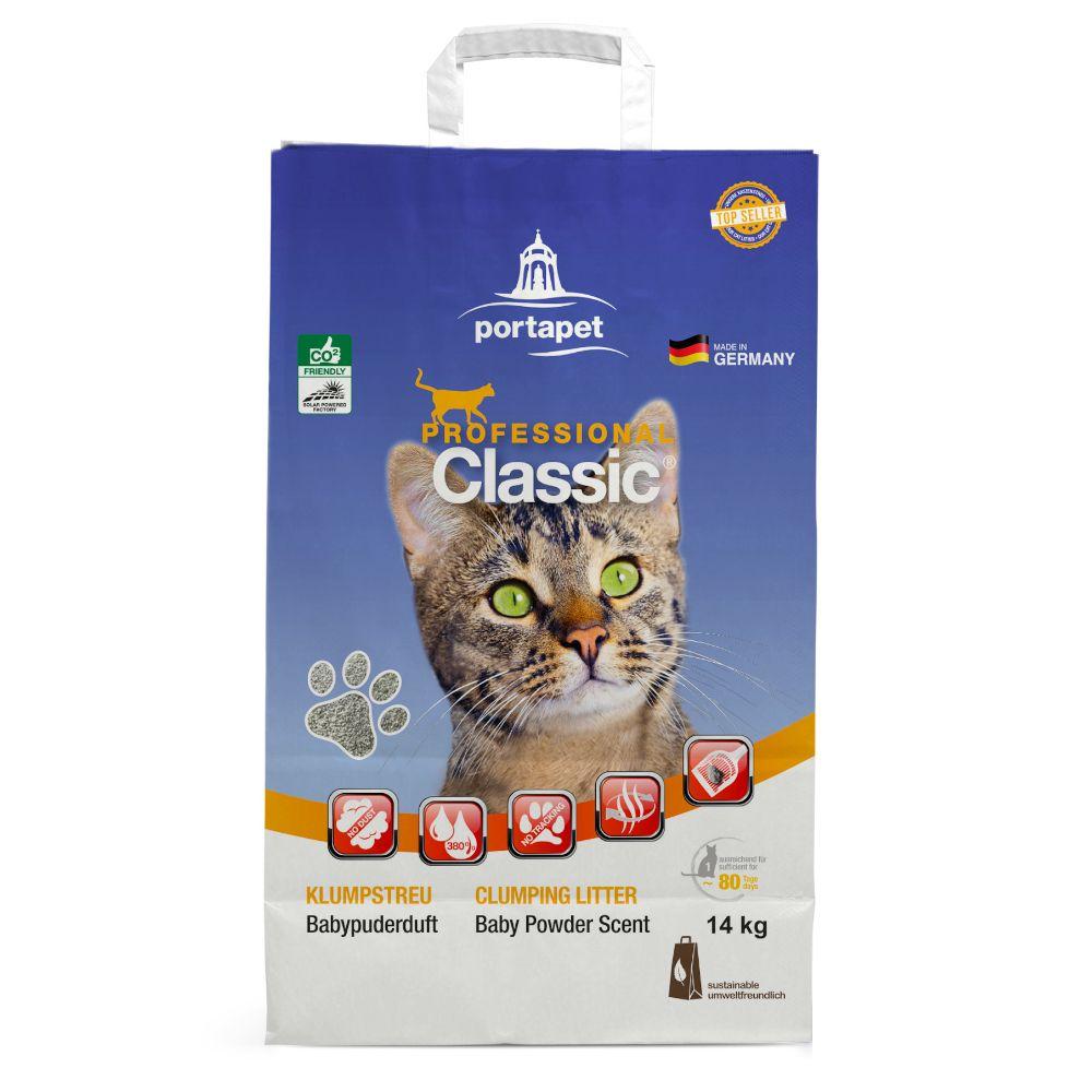Professional Classic Katzenstreu mit Babypuderduft - 14 kg